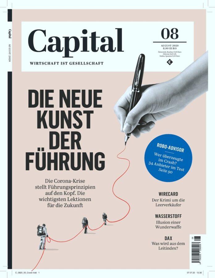 Cover_Capital_Ausgabe 8_20. Weiterer Text über ots und www.presseportal.de/nr/8185 / Die Verwendung dieses Bildes ist für redaktionelle Zwecke honorarfrei. Veröffentlichung bitte unter Quellenangabe: