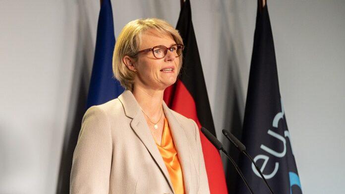 Bundesministerin Anja Karliczek stellt die Ergebnisse des Informellen WBF-Rates vor. Weiterer Text über ots und www.presseportal.de/nr/67245 / Die Verwendung dieses Bildes ist für redaktionelle Zwecke honorarfrei. Veröffentlichung bitte unter Quellenangabe:
